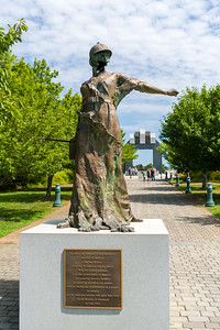 Le Monument Aux Morts at the National D0Day Memorial, Bedford, Virginia