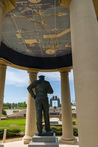 Dwight D. Eisenhower statue at Reynolds Garden, National D-Day Memorial, Bedford, Virginia