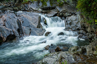Rainy day at The Sinks, Great Smoky Mountains National Park, Tennessee