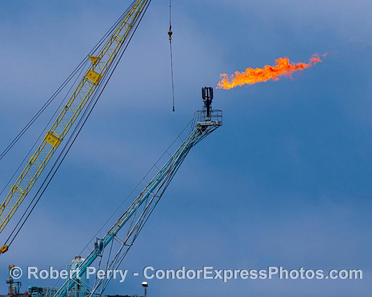 Platform Alpha gas burnoff flame 2020 06-12 SB Channel--007
