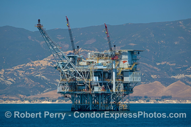 Offshore oil and gas Platform Hondo, Gaviota coast.