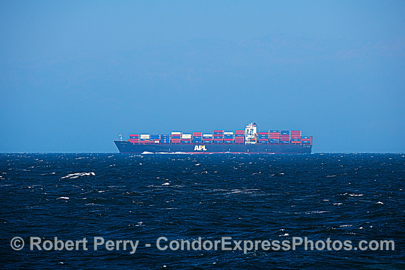 "Container cargo vessel ""President Wilson"" in the Channel."