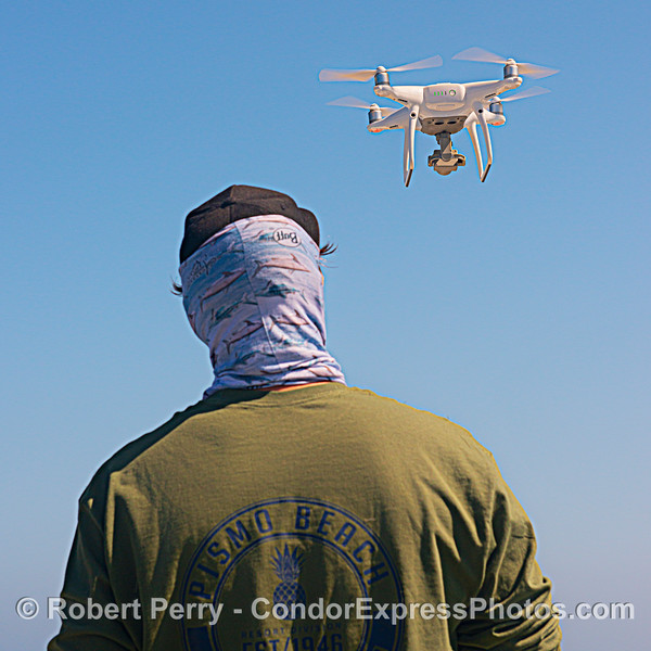 Drone man at work