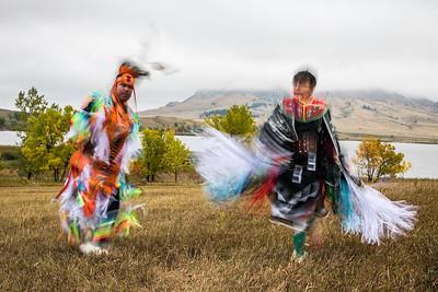 DA022,DT,Native American dance at bear butte south dakota