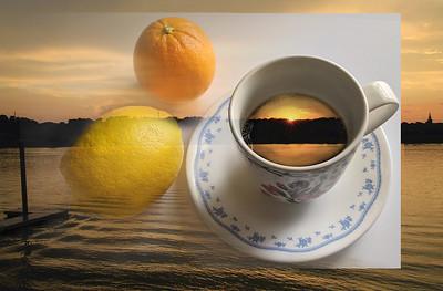 DA047,DA,Coffee and fruit at sunset (1)