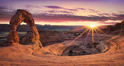 DA115,DT,Delicate Arch at Sunset - Utah USA