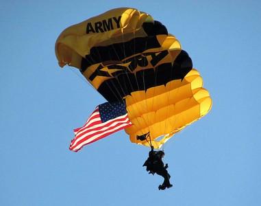 DA104,DJ,Golden Knights Jump Dubuque Skies with a Patriotic  Flair
