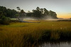 Sunrise from bridge on  3rd hole of Osprey Golf Course, Kiawah
