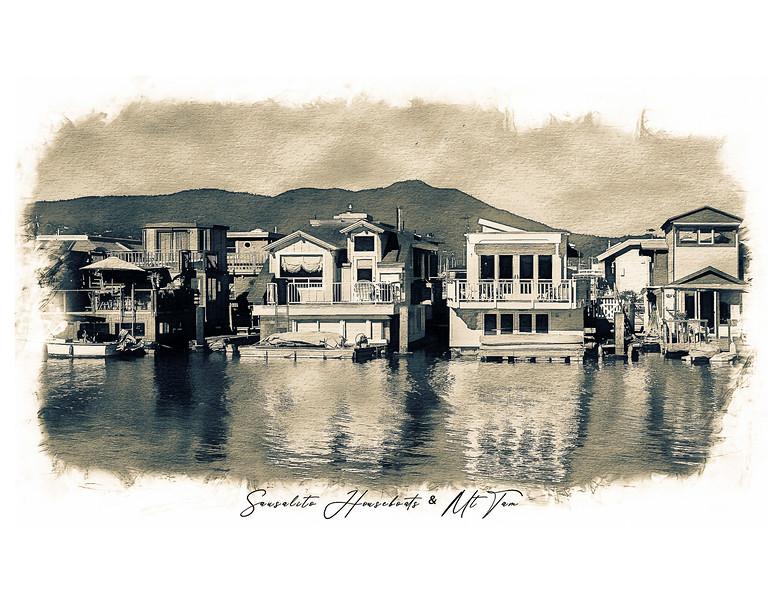 Sausalito Houseboats & Mt Tam