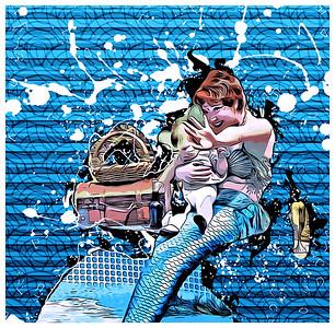DA047,DA,Mermaid protects her baby2