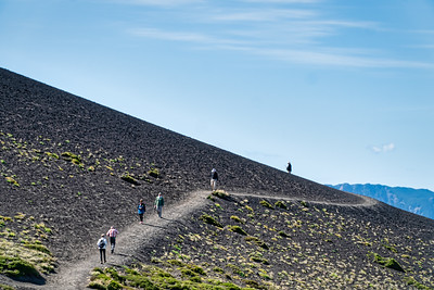 Hiking up the Osorno Volcano