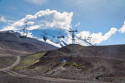 Ski Lift on Osorno Volcano