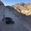 biking up to an old mine with E-bike.  Ŕichard hiked.