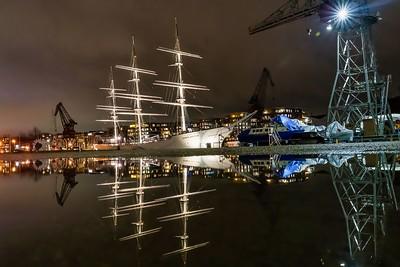 Puddle Reflection of Suomen Joutsen