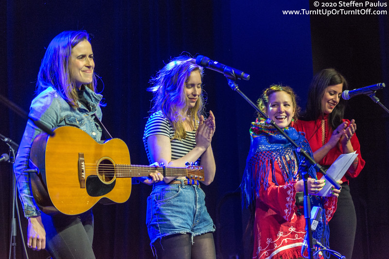 Caroline Brooks is joined by Skye Wallace, A@ International Women's Day Solidarity Concert for Wet'suwet'en @ Paradise, Toronto, ON, 7-March 2020 @ International Women's Day Solidarity Concert for Wet'suwet'en @ Paradise, Toronto, ON, 7-March 2020