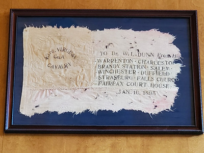 Flag used by 43rd Virginia Cavalry during the War Between the States (on display at Gray Ghost Winery, Amissville, Virginia)