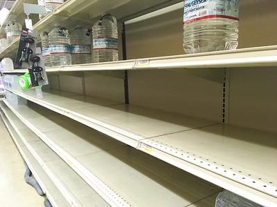 Bottled water supplies at Safeway
