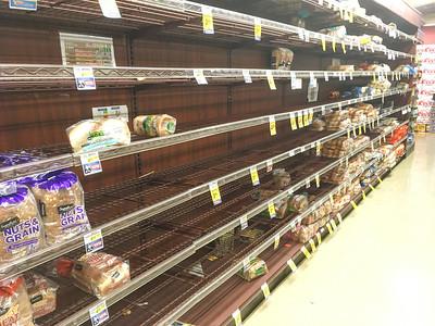 Bread shelves at Safeway