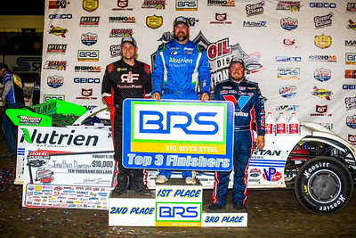 Big River Steel Top 3 Finishers Mike Marlar (L), Jonathan Davenport (C) and Brandon Sheppard (R)