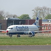 Former British Airways Boeing 737-400 G-DOCB at Cranfield University in use as a training centre, 16.04.2020.