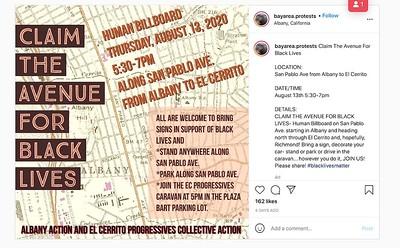 Claim the Avenue for Black Lives    Albany-El Cerrito 20