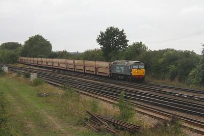 57002 Worting Junction 27/08/20 6Z02 Eastleigh to Dagenham Dock Reception