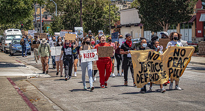 On June 20, 2020, members of the Black Student Union at San Leandro High School lead a Black Lives Matter March from the high school to City Hall.