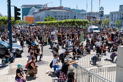 June 1 - George Floyd Memorial - SF City Hall, June 8th - Steve Disenhof