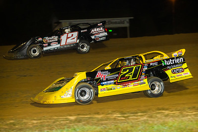 Billy Moyer, Jr. (21JR) and Jason Jameson (12)