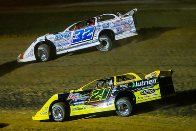 Billy Moyer, Jr. (21JR) and Bobby Pierce (32)