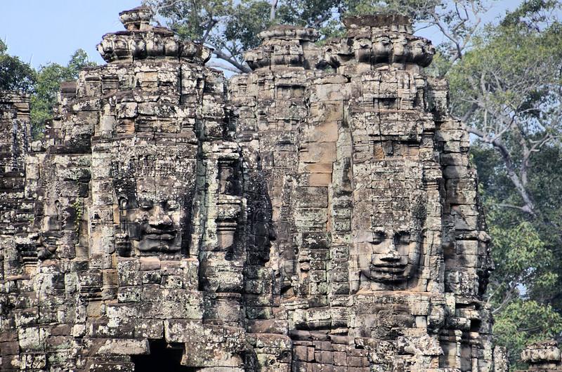 Faces of Avalokiteshvara at Angkor Thom
