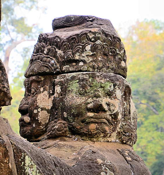 Statue at the Bridge - Tole Om (South) Gate - Angkor Thom