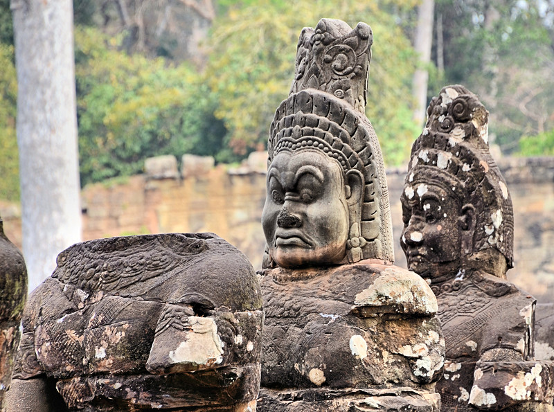 Demon Statue at the Bridge - Tole Om (South) Gate - Angkor Thom