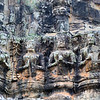 Carvings on the Tole Om (South) Gate - Angkor Thom