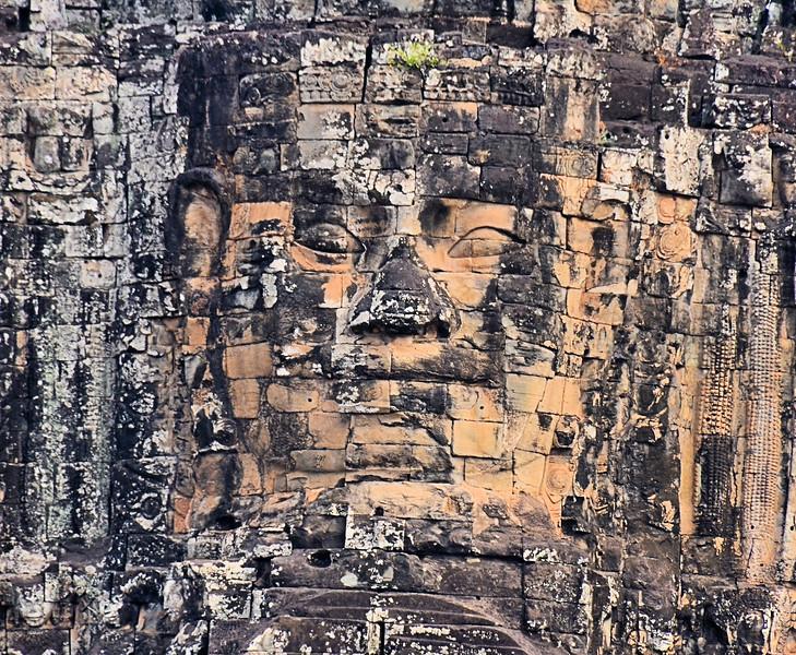 Face of Avalokiteshvara on the South Gate of Angkor Thom