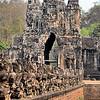 Bridge and Tole Om (South) Gate - Angkor Thom