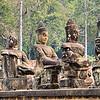 God Statues at the Bridge - Tole Om (South) Gate - Angkor Thom