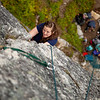 """Lydia on the first pitch of """"Toto"""" (5.7)."""