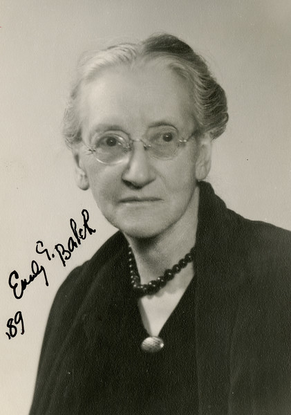 Emily Balch, Nobel Prize Winner