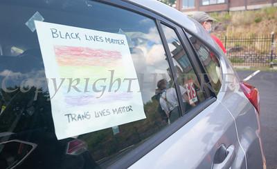 The Newburgh LGBTQ Center hosted a caravan on Sunday, June 28, 2020 that drove thru Newburgh, Beacon, Poughkeepsie New Paltz, Rosendale, Kingston and Hudson, NY. Hudson Valley Press/CHUCK STEWART, JR.