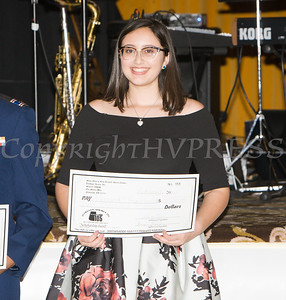 Adriana Guerriero received a scholarship award during the 22nd Annual Tuition Assistance Awards Celebration of the Major General Irene Trowell-Harris Chapter of the Tuskegee Airmen on Saturday, February 8, 2020 at Anthony's Pier 9 in New Windsor, NY. Hudson Valley Press/CHUCK STEWART, JR.