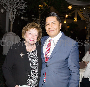 Patricia Larkin and Max Cuacuas at the 22nd Annual Tuition Assistance Awards Celebration of the Major General Irene Trowell-Harris Chapter of the Tuskegee Airmen on Saturday, February 8, 2020 at Anthony's Pier 9 in New Windsor, NY. Hudson Valley Press/CHUCK STEWART, JR.