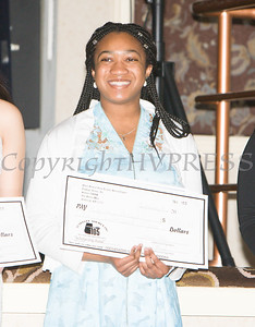Adriana Pascal received a scholarship award during the 22nd Annual Tuition Assistance Awards Celebration of the Major General Irene Trowell-Harris Chapter of the Tuskegee Airmen on Saturday, February 8, 2020 at Anthony's Pier 9 in New Windsor, NY. Hudson Valley Press/CHUCK STEWART, JR.
