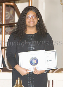 Nia Garrett received a scholarship award during the 22nd Annual Tuition Assistance Awards Celebration of the Major General Irene Trowell-Harris Chapter of the Tuskegee Airmen on Saturday, February 8, 2020 at Anthony's Pier 9 in New Windsor, NY. Hudson Valley Press/CHUCK STEWART, JR.