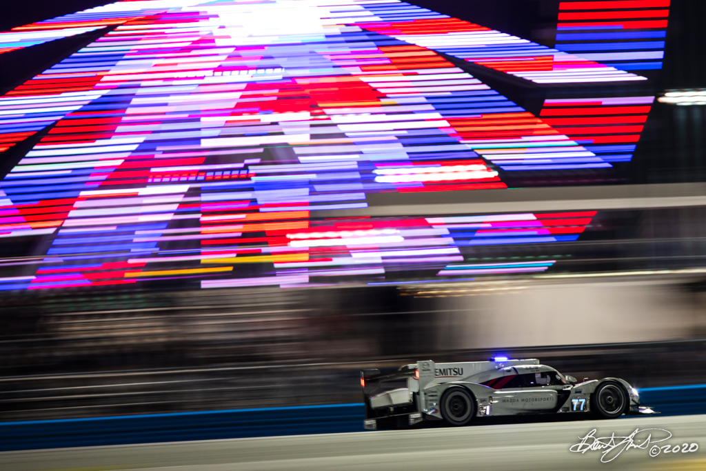 Rolex 24 at Daytona - IMSA WeatherTech SportsCar Championship - Daytona International Speedway - 77 Mazda Team Joest Mazda DPi , Oliver Jarvis, Tristan Nunez, Olivier Pla