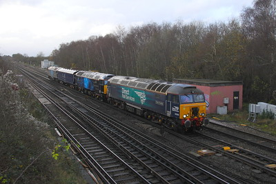 57303 Worting Junction 05/12/20 5M57 Eastleigh to Derby RTC with 57305 and 57312