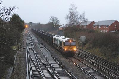 66789 Worting Junction 16/12/20 4Y19 Mountfield to Southampton Western Docks