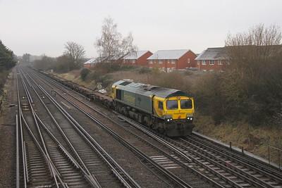 66418 Worting Junction 31/12/20 4O14 Garston to Southampton