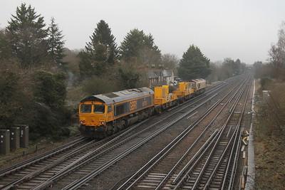 66708 Worting Junction 31/12/20 3Y88 Totton Yard to Totton Yard via Woking