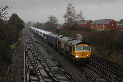 66739 Worting Junction 16/12/20 6X24 Derby Litchurch Lane to Eastleigh with 701015
